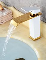 abordables -Moderne Set de centre Soupape céramique Mitigeur un trou Bronze huilé Peintures Noir, Robinet lavabo