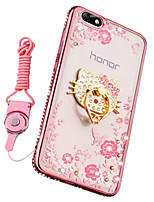 cheap -Case For Huawei Honor 7X Shockproof Rhinestone with Stand Back Cover Cartoon Soft Silicone for Huawei Honor 4X