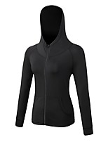cheap -Women's Hoodie Long Sleeves Breathability Hoodie for Exercise & Fitness Polyester Black Grey Dark Navy S M L XL XXL