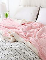 Недорогие -Трикотаж, Крашенный в пряже Однотонный Полиэфир/полиамид одеяла