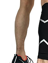 cheap -Calf Support for Racing Basketball Jogging Running Unisex Impact Resistant Non-Slip Sports & Outdoor Lycra Spandex 1 pc Orange Yellow Red