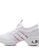cheap -Women's Dance Sneakers Tulle Canvas Sneaker Outdoor Splicing Low Heel White 1 - 1 3/4 Customizable