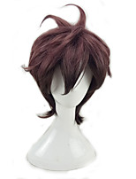 cheap -Synthetic Wig Curly Layered Haircut Color Gradient Red Men's Capless Party Wig Cosplay Wig Short Synthetic Hair