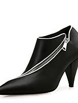 Недорогие -Жен. Обувь Искусственное волокно Осень Зима Модная обувь Ботинки На конусовидном каблуке Заостренный носок Ботинки для Офис и карьера Для