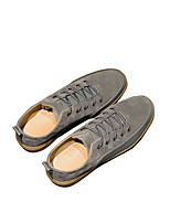 cheap -Men's Shoes Synthetic Microfiber PU Spring Comfort Sneakers for Casual Black Gray Army Green Almond