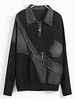 abordables -Tee-shirt Femme Basique Chic de Rue Col de Chemise
