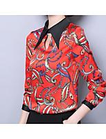 cheap -Women's Holiday Basic Blouse - Floral, Print Shirt Collar