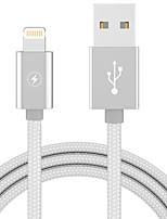 abordables -Eclairage Adaptateur de câble USB Portable Charge rapide Pour iPhone 100 cm Plastique Nylon