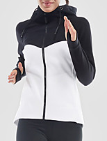 cheap -Women's Running Jacket Long Sleeves Quick Dry Jacket for Running Cotton White Pink Grey S M L XL XXL