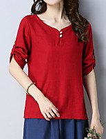 cheap -Women's Basic Loose T-shirt - Solid Colored