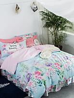 preiswerte -Bettbezug-Sets Blumen 3 Stück Polyester / Baumwolle Jacquard Polyester / Baumwolle 1 Stk. Bettdeckenbezug 1 Stk. Kissenbezug 1 Stk.