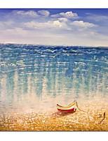 abordables -Peinture à l'huile Hang-peint Peint à la main - Abstrait Paysage Contemporain Moderne Toile