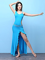cheap -Belly Dance Outfits Women's Training Modal Split Ruching Sleeveless High Dress Shorts