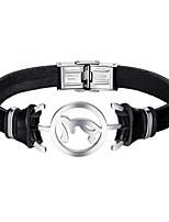 cheap -Men's Leather Bracelet - Casual Cool Irregular Black Bracelet For Daily Date