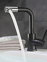 cheap -Contemporary Antique Ceramic Valve Single Handle One Hole Bathroom Sink Faucet