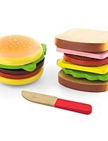 Недорогие -Игрушечная еда и всё для кухни Игрушки Семья Взаимодействие родителей и детей утонченный деревянный Куски