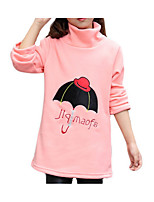 cheap -Girl's Daily Solid Dress, Polyester Spring Summer Long Sleeves Cute Active Black Blushing Pink Gray