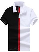 cheap -Men's Cotton Polo - Color Block