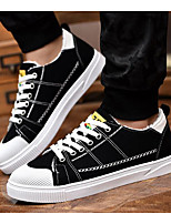 cheap -Men's Shoes Canvas Winter Fall Fluff Lining Comfort Sneakers for Casual White Black Black/White