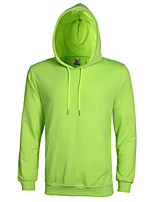 cheap -men's sports simple casual solid hooded hoodie long, long sleeves fall