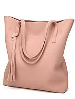 baratos -Mulheres Bolsas Couro Ecológico Tote Mocassim para Compras Casual Todas as Estações Azul Preto Rosa Cinzento