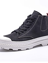 cheap -Men's Shoes Suede Leather Spring Fall Combat Boots Fashion Boots Boots for Casual Party & Evening Black Gray