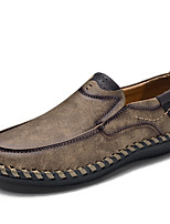 cheap -Men's Microfiber Fall / Spring & Summer Casual / Preppy Loafers & Slip-Ons Walking Shoes Breathable Khaki / Brown / Black