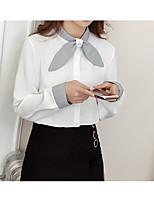 Недорогие -Жен. Бант Рубашка Однотонный