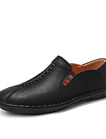 cheap -Men's Shoes Nappa Leather Spring Fall Comfort Loafers & Slip-Ons for Casual Office & Career Black Light Brown