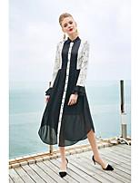 cheap -Women's Boho Loose Dress - Floral, Print Shirt Collar