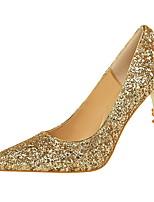 preiswerte -Damen Schuhe Glitzer PU Sommer Herbst Pumps Komfort High Heels Stöckelabsatz Geschlossene Spitze Spitze Zehe Glitter für Büro & Karriere
