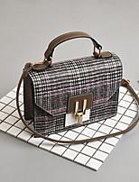 preiswerte -Damen Taschen PU Umhängetasche Reißverschluss für Normal Schwarz / Rote / Purpur