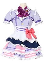 baratos -Inspirado por Amar viver Outro Anime Fantasias de Cosplay Ternos de Cosplay Outro Manga Curta Peitilho Vestido Arco Mais Acessórios Para
