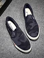 Недорогие -Муж. обувь Полотно Весна Лето Удобная обувь Мокасины и Свитер для Повседневные Черный Темно-синий