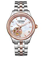 abordables -CADISEN Mujer Cuerda Automática Reloj de Moda Reloj Casual Japonés Resistente al Agua Reloj Casual Acero Inoxidable Banda Elegant Moda