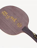 economico -DHS® Hurricane King FL Ping-pong Racchette di legno Fibra di carbonio Gomma da cancellare Manopola  lunga Brufoli