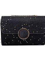 cheap -Women's Bags PU Shoulder Bag Appliques for Event/Party Casual All Seasons Black Silver Brown