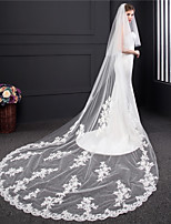 cheap -Two-tier Lace Wedding Veil Cathedral Veils 53 Embroidery Tulle