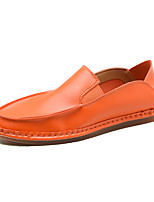 cheap -Men's Shoes PU Spring Fall Moccasin Comfort Loafers & Slip-Ons for Casual Black Orange Yellow