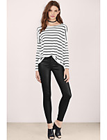 cheap -Women's Active Cotton T-shirt - Striped