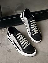 Недорогие -Муж. обувь Кожа Наппа Leather Весна Осень Удобная обувь Кеды для Повседневные Черный Серебряный