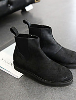 cheap -Men's Shoes Nappa Leather Spring Fall Fashion Boots Boots Booties/Ankle Boots for Casual Outdoor Black