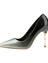 cheap -Women's Shoes Leatherette Spring Fall Comfort Heels Stiletto Heel Closed Toe for Office & Career Black Silver Red Light Blue
