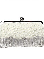 cheap -Women's Bags Polyester Evening Bag Crystals / Pearls / Tassel for Wedding / Event / Party Beige