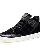 Недорогие -Муж. обувь Резина Весна Лето Удобная обувь Кеды для на открытом воздухе Черный Синий