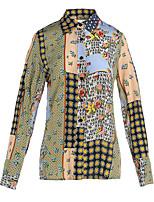 cheap -Women's Work Blouse - Geometric Shirt Collar
