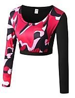 abordables -Femme Tee-shirt de Course Manches Longues Respirabilité Tee-shirt pour Exercice & Fitness Polyester Vert Véronèse / Rouge / Blanc / Vert