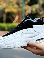 abordables -Homme Chaussures Polyuréthane Hiver Confort Basket pour Décontracté Blanc Noir Bleu
