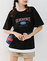 cheap -Women's Basic T-shirt - Letter, Sporty