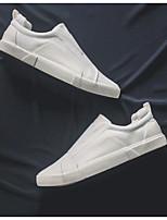 Недорогие -Муж. обувь Ткань Весна Осень Удобная обувь Мокасины и Свитер для Повседневные Белый Черный